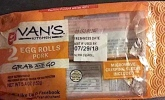 Van's Kitchen branded Pork Egg Roll Recall [US]