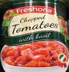 Lidl Freshona Chopped Tomato with Basil Recall [UK]