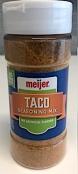 Meijer branded Taco Seasoning Mix Recall [US]