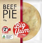 Coles Supermarkets Big Yum Beef Pie Recall [Australia]
