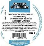 Sweets Sucreries Chocolate Cranberry Recall [Canada]