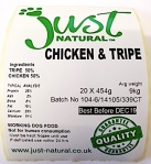 Just Natural Chicken & Tripe Pet Food Recall [UK]