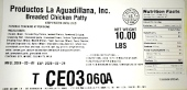 Productos La Aguadillana Breaded Chicken Recall [US]