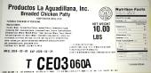 Productos La Aguadillana Breaded Chicken Recall [US]
