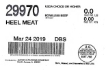 Aurora Packing Beef Heel & Chuck Tender Recall [US]