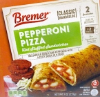 Bremer branded Stuffed Sandwich Recall [US]