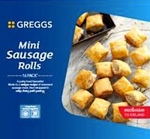 Greggs Frozen Mini Sausage Roll Recall [UK]
