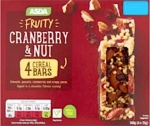 Asda branded Cranberry and Nut Cereal Bar Recall [UK]