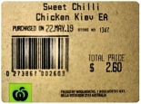 Inghams Sweet Chilli Chicken Kiev Recall [Australia]