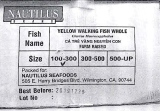 Nautilus Yellow Walking Siluriformes Fish Recall [US]