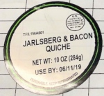Taylor Farms Cheese & Bacon Quiche Recall [US]
