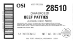 Char-Broiled Beef Patty Recall [US]