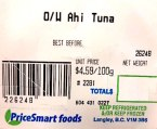 Pricesmart Foods, Save on Foods and Urban Fare branded Ahi Tuna products