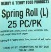 Henry & Terry Spring Roll Recall [Canada]