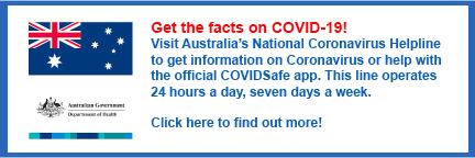 Australian Department of Health Coronavirus Tips
