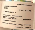 Feshpoint Foodservice Red and Jumbo Onion Recall [Canada]