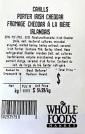Whole Foods Cahills Porter Irish Cheddar Recall [Canada]
